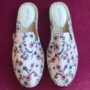 Shoes - Nine West Floral Slip On Shoes